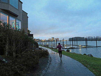 Photograph - Christmas Runner In Portland Oregon by Elizabeth Rose