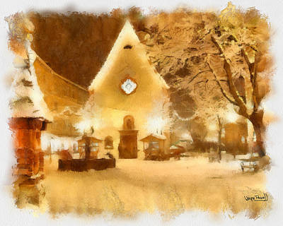 Art Print featuring the painting Christmas Scenes 3 by Wayne Pascall