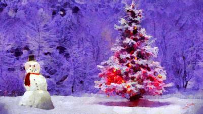 Red Painting - Christmas Season by George Rossidis