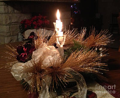 Photograph - Christmas Shining Light by Luther Fine Art
