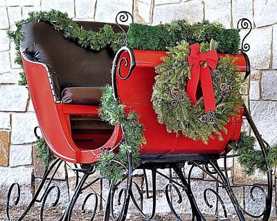 Photograph - Christmas Sleigh by Janice Drew
