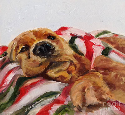 Painting - Christmas Snooze by Shelley Koopmann