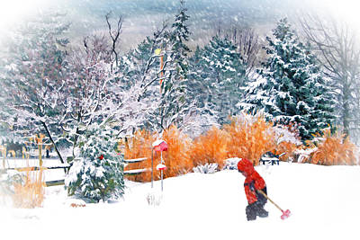 Christmas Snow Art Print by Mary Timman