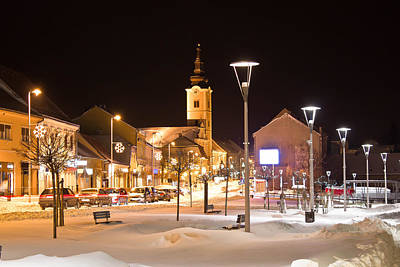 Photograph - Christmas Snow On Town Street by Brch Photography