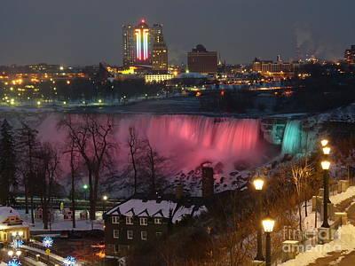 Christmas Spirit At Niagara Falls Art Print
