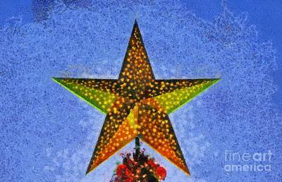 Painting - Christmas Star By Dusk Time by George Atsametakis