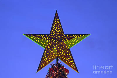Photograph - Christmas Star During Dusk Time by George Atsametakis