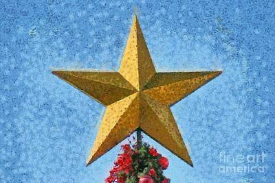 Painting - Christmas Star by George Atsametakis