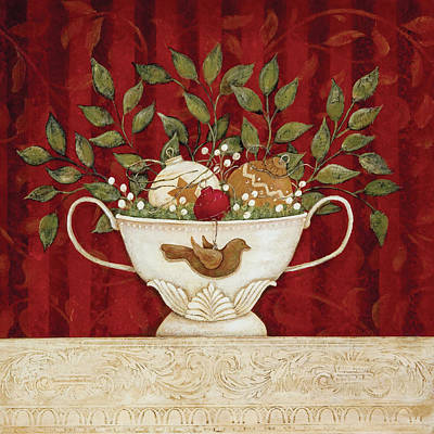 Holiday Painting - Christmas Still-life by Jo Moulton