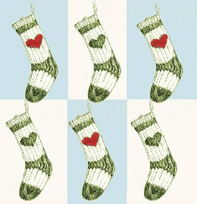 Happy Holidays Painting - Christmas Stocking by Anna Platts