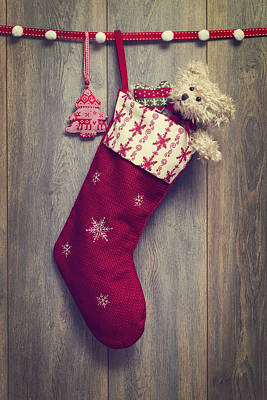 Christmas Stocking Print by Amanda Elwell