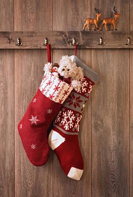 Christmas Stockings Art Print by Amanda Elwell