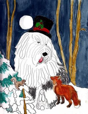 Christmas Story Teller Art Print