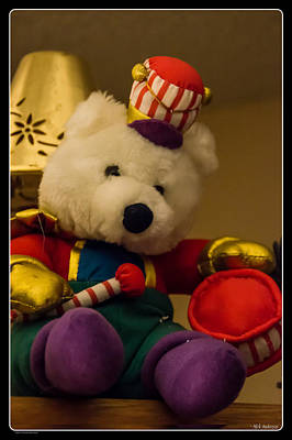 Photograph - Christmas Stuffed Bear by Mick Anderson