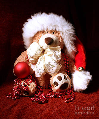 Christmas Teddy Art Print
