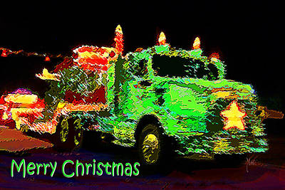 Photograph - Christmas Timber Truck Parade by Michele Avanti