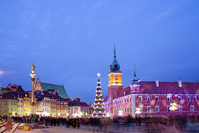 Christmas Time In Warsaw Print by Artur Bogacki