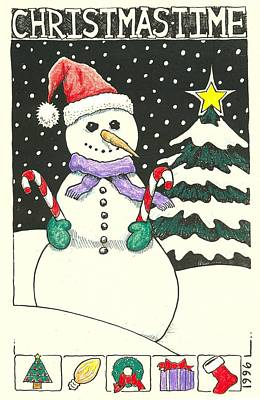 Drawing - Christmas Time by Ralf Schulze