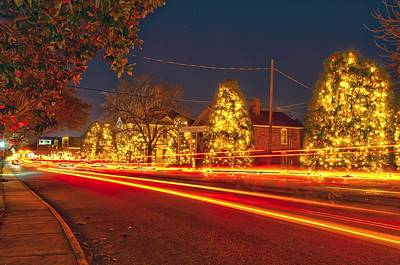 Art Print featuring the photograph Christmas Town Usa by Alex Grichenko