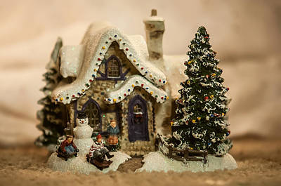 Art Print featuring the photograph Christmas Toy Village by Alex Grichenko