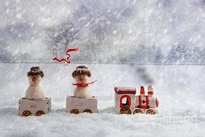 Woollen Photograph - Christmas Train by Amanda Elwell