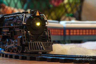 Photograph - Christmas Train by Eddie Yerkish