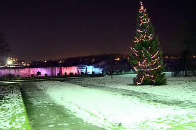 Photograph - Christmas Tree At Niagara Falls by Munir Alawi
