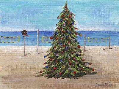Painting - Christmas Tree At The Beach by Jamie Frier