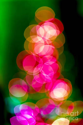 Magic Photograph - Christmas Tree Bokeh Background by Michal Bednarek