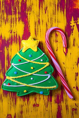 Christmas Tree Cookie Art Print by Garry Gay