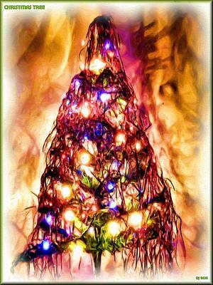 Art Print featuring the digital art Christmas Tree by Daniel Janda