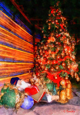 Fauna Painting - Christmas Tree by George Rossidis