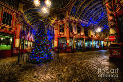 D700 Photograph - Christmas Tree Hdr 03 Cool by Jack Torcello