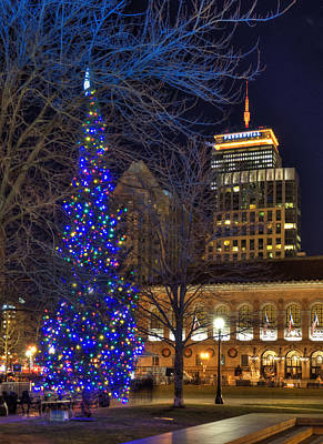 Photograph - Christmas Tree In Copley Square by Joann Vitali
