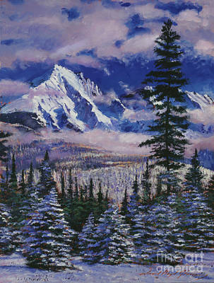Christmas Holiday Scenery Painting - Christmas Tree Land by David Lloyd Glover