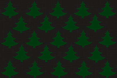 Holidays Digital Art - Christmas Tree Pattern by Chastity Hoff