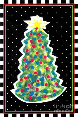 Painting - Christmas Tree Polkadots by Genevieve Esson