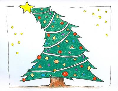 Drawing - Christmas Tree by Ralf Schulze