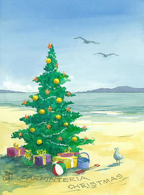 Ray Cole Painting - Christmas Tree by Ray Cole