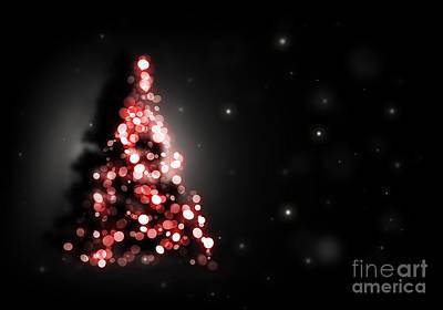 Staff Picks Judy Bernier - Christmas tree shining on black background by Michal Bednarek