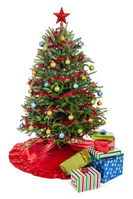 Space Photographs Of The Universe - Christmas tree with presents by Leslie Banks