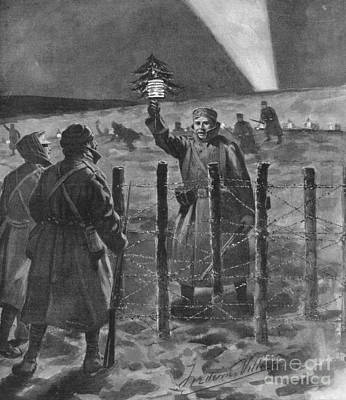 Christmas Truce In 1914, World War I Print by British Library