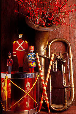 Drumstick Photograph - Christmas Tuba by Garry Gay