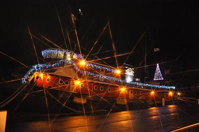 Christmas Tug Boat Art Print