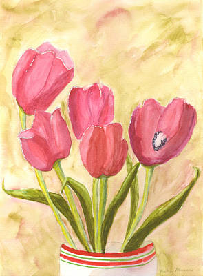 Painting - Tulip Time by Mickey Krause
