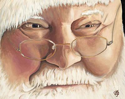 Psovart Painting - Christmas Twinkle Santa by Patty Vicknair
