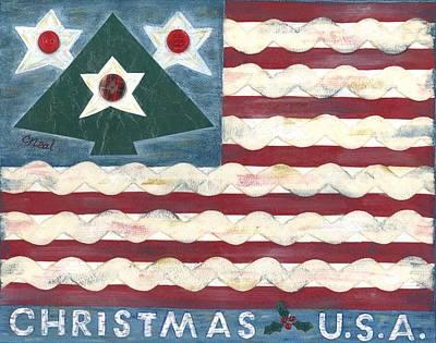 Mixed Media - Christmas U.s.a. by Carol Neal