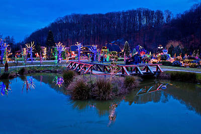 Photograph - Christmas Village By The Lake View by Brch Photography