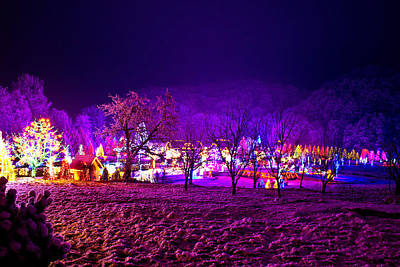 Photograph - Christmas Village In The Forrest Valley by Brch Photography
