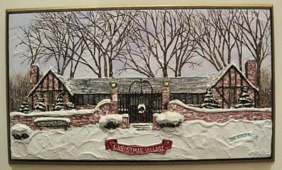 Warner Park Mixed Media - Christmas Village by Joe Kopler